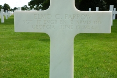 Headstone Grave Elmo C. Farrow