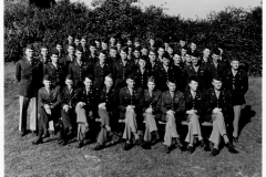 Officer Staff 17th Engineers at Tidworth Barracks Engeland, june, may 1944 S. Benninger
