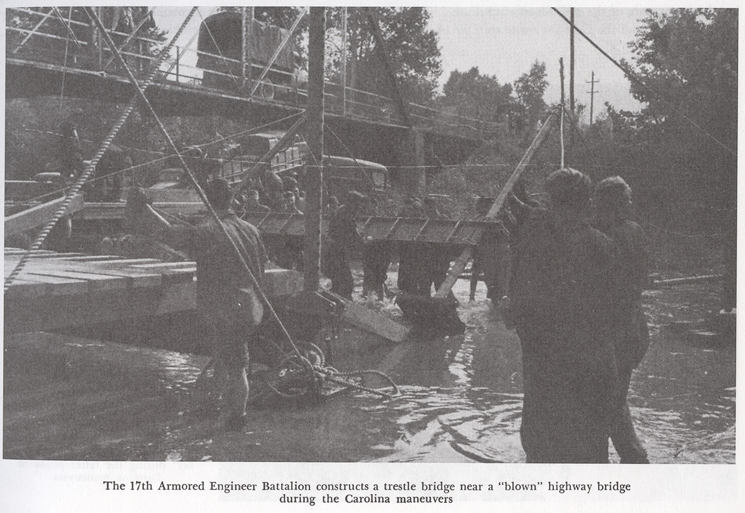 17th AEB constructs trestle bridge Carolina Maneuvers Unit History