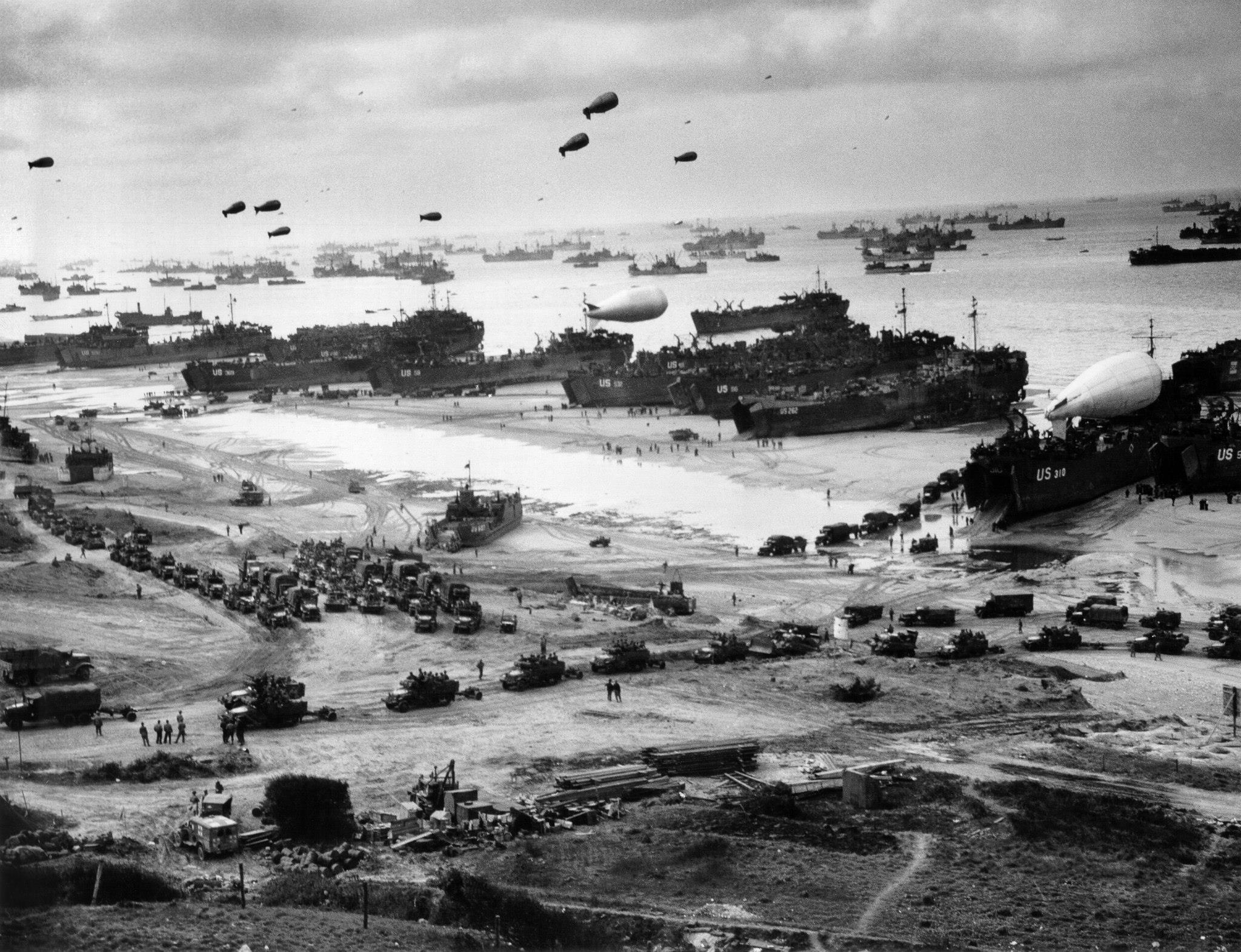 Omaha Beach de 'Le Ruquet' Draw, Normandie, Frankrijk 1944