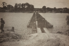 Bridge build by the 17th Engineers a the Seine River at Meulan, France august 30 1944