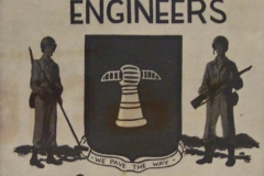 Detail van foto bord van de 17th Engineers in Berlijn 1945