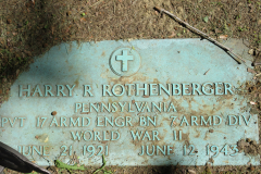 Rothenberger Pvt Harry R headstone