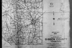 Gibson county overzichtkaart 1940