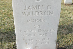 Waldron James G Headstone