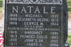 Gravestone Private George M Natale US