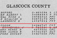 Neal Cleon PVT Official Deathlist, Georgia, Glascock
