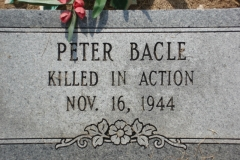 Peter Bacle,Hewitt Cemetery, Richland Parish, LA