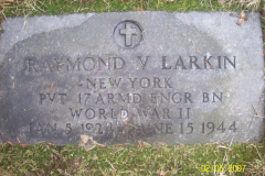 Headstone Raymond V. Larkin 6-15-1944 2