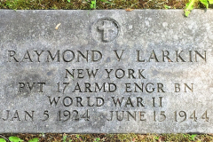 Headstone Raymond V. Larkin 6-15-1944