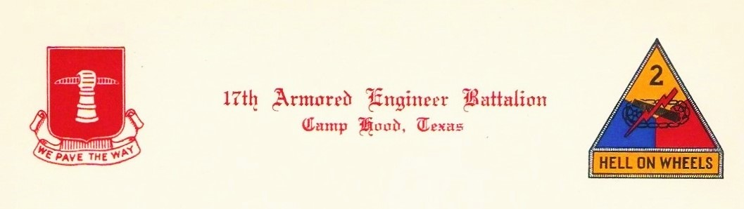 17th Engineer heading letter