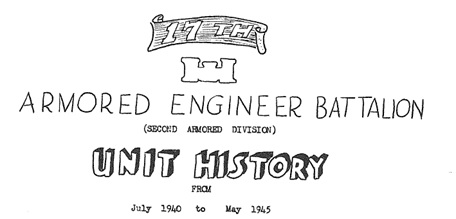 Titlepage 17th Armored Engineer Battalion Unit History