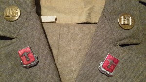 Servicedress with Collar disk 17th Armored Engineer Battalion