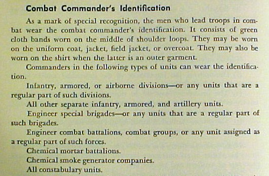 Combat Commander Indentification