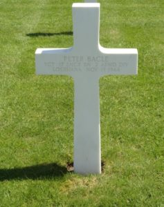 Cross Sergeant Peter Bacle