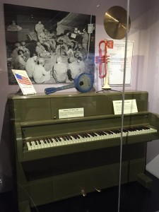 "Steinway and Sons ""GI piano""Source: Museum of making Music the Steinway Victory Vertical"