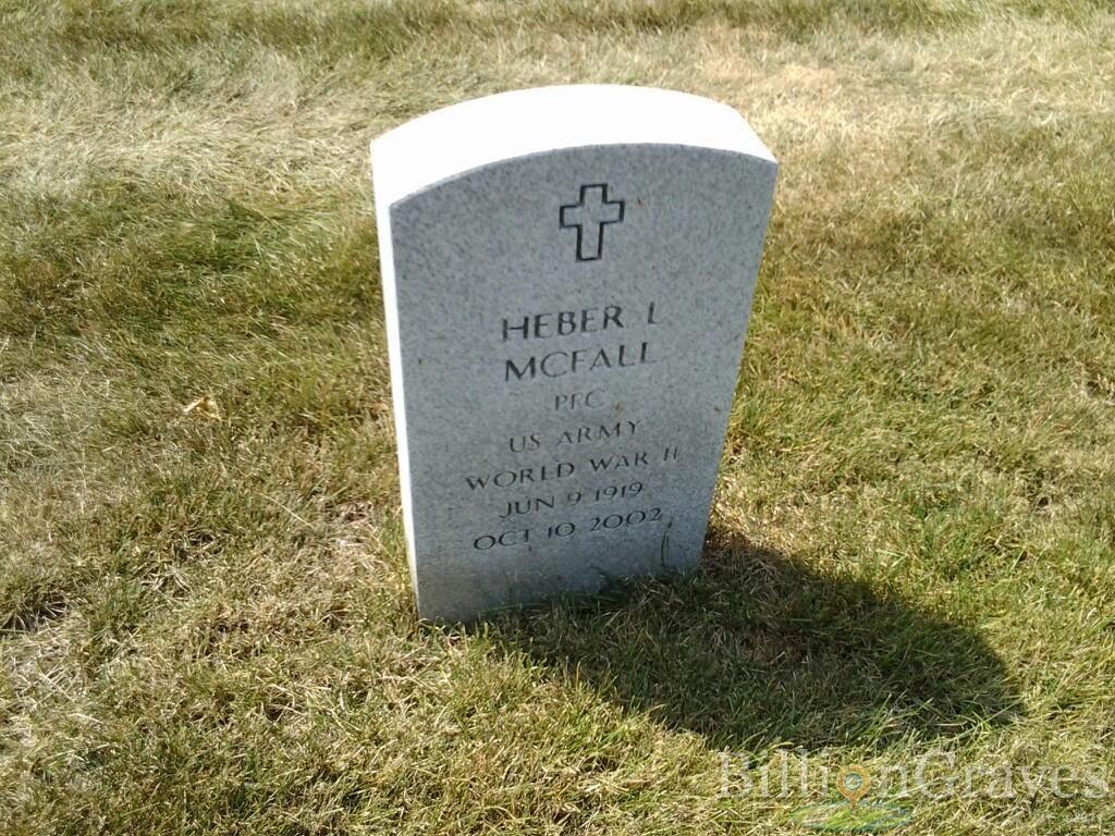 Gravestone Heber L McFall