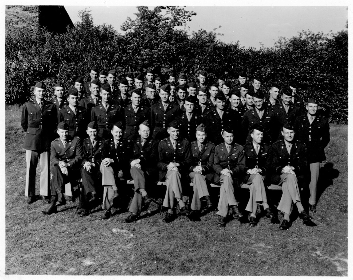 Officer Staff 17th Engineers at Tidworth Barracks England, june, may 1944. Photo: S. Benninger
