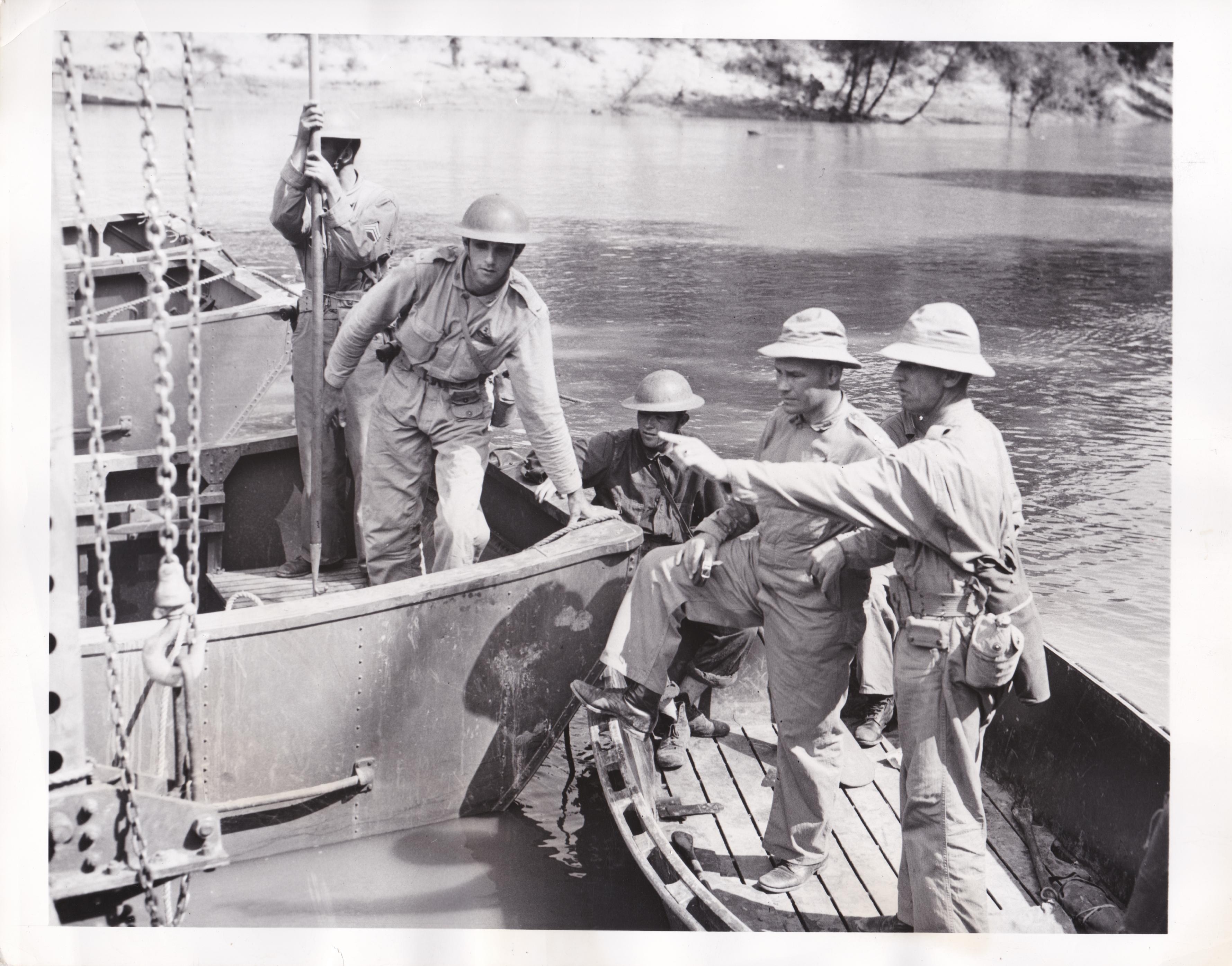 Major Howard Packhem during Louisiana manoevers
