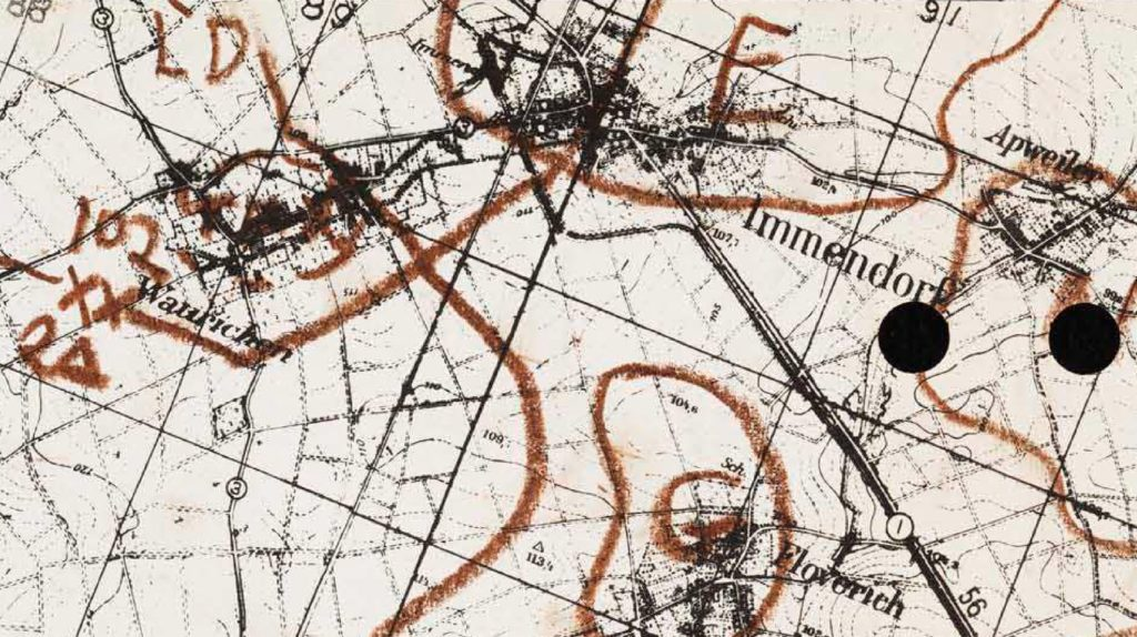 Battlemap november 16th 1944. Source: Hell on Wheels in the Drive to the Roer May 1949. Student research report.