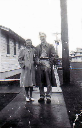 Larson Samuel James with Irene, date unknown. (Source: Bill)