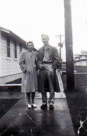 Larson Samuel James with Irene, date unknown. (Source: Bill)