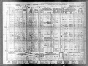 US Sensus 1940 Samuel J Larsion