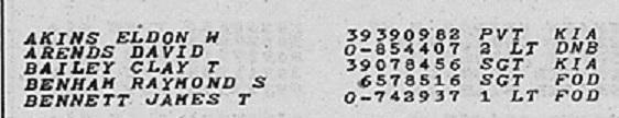 Eldon W Akins deathlist detail