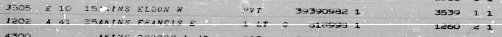 Eldon W Akins Burial Entry detail