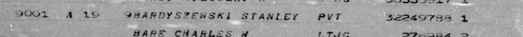 Stanley Bardyszewski Burial Info detail