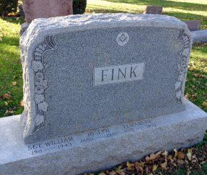 Gravestone Staffsergeant William Fink, Platoonsergeant Company B