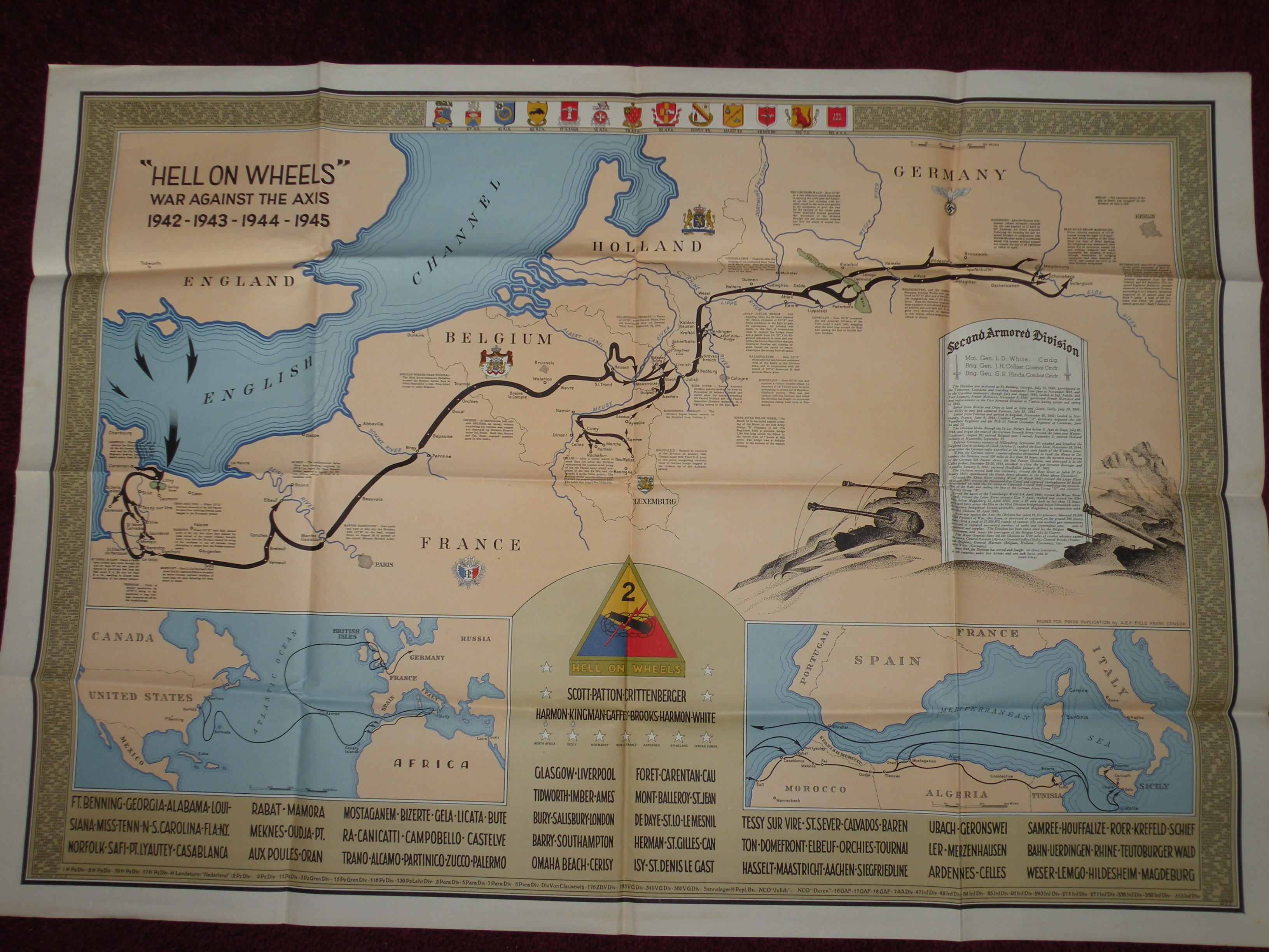 Division and Army maps from TSGT Gordon J Ketchpaw. Courtesy of