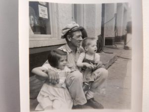 Gordon Ketchpaw with son and duaghter Mary