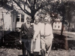 Gordon and Jean Ketchpaw and son Jim on his confirmation day