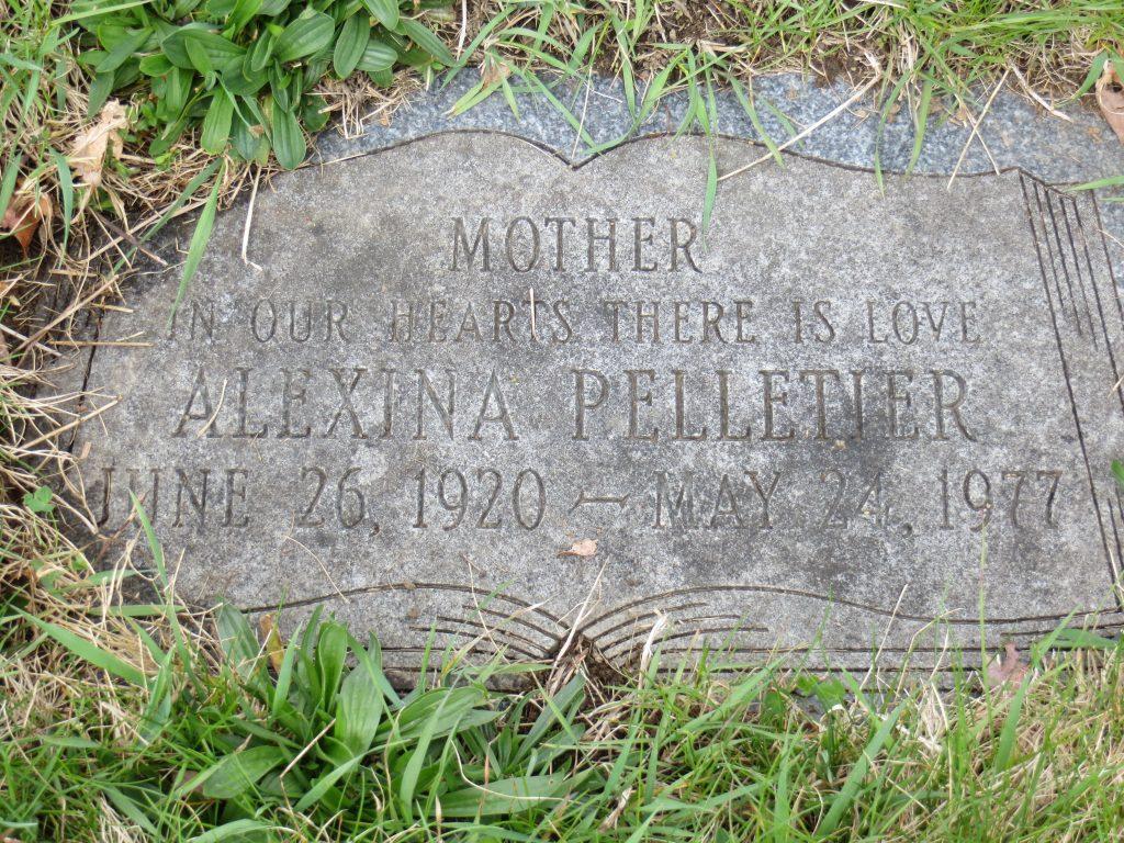 Grave Alexina Pelletier