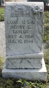 Grave Stone Taylor Henry G CPL