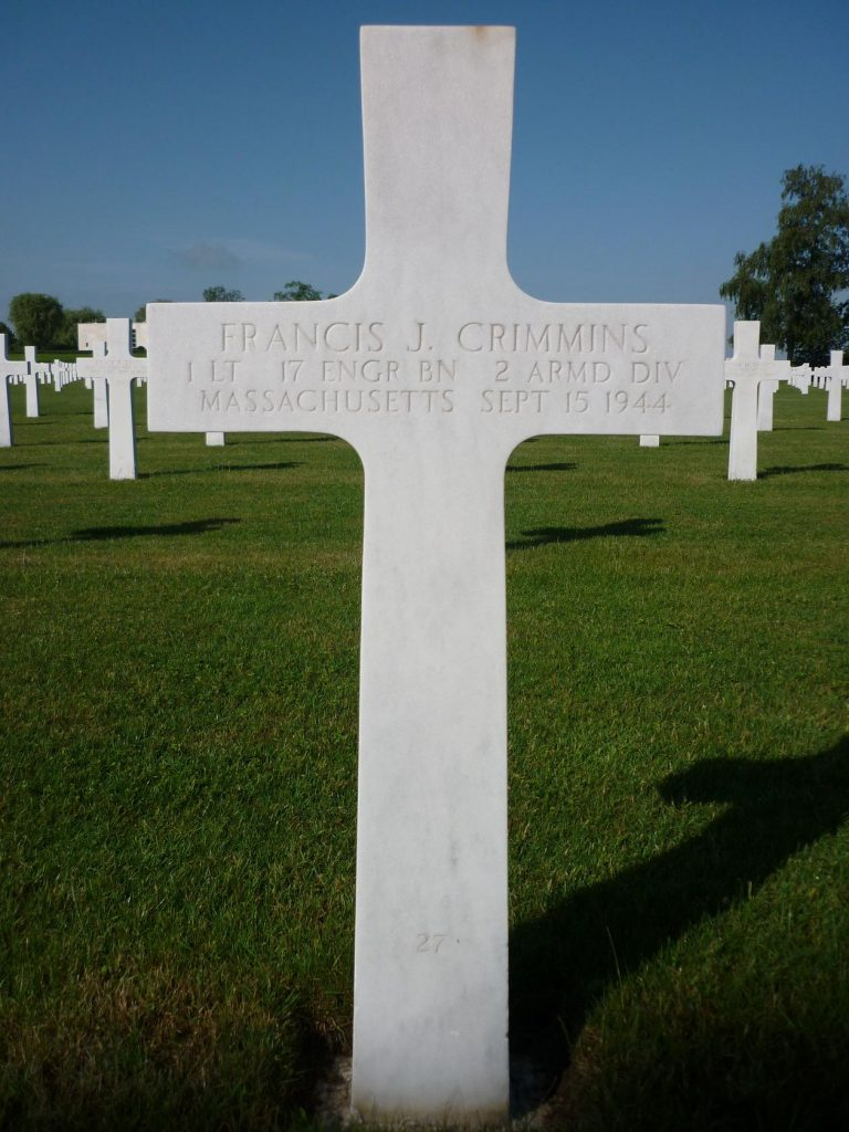 Headstone Francis Jospeph Crimmins