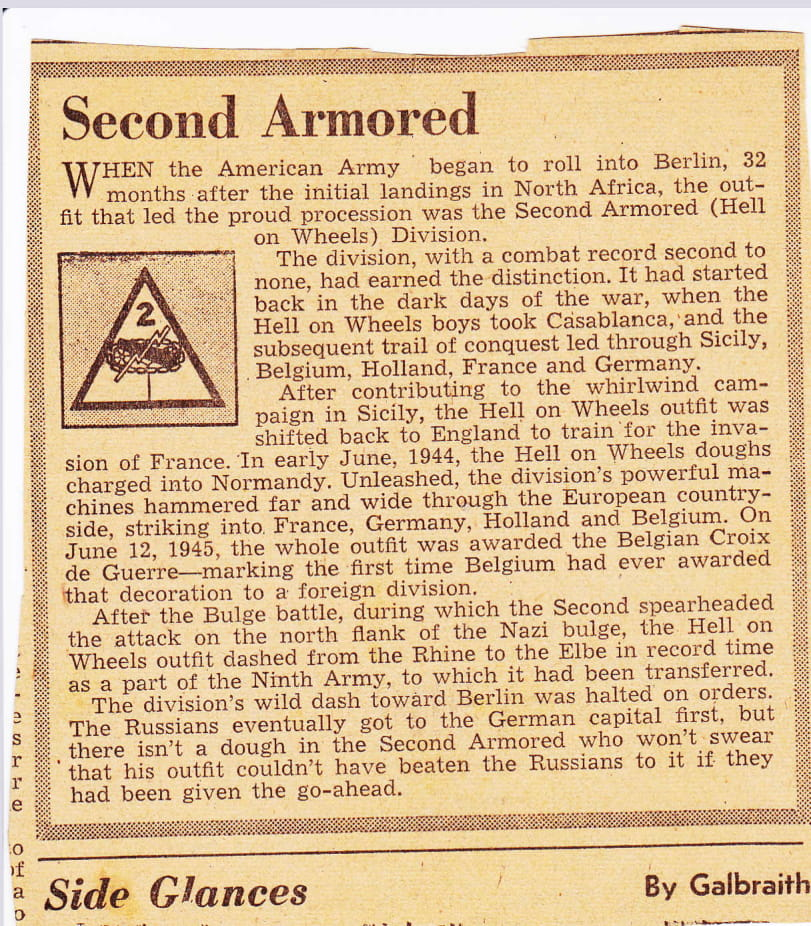 Local newspaper clippings Croix de Guerre Belgium