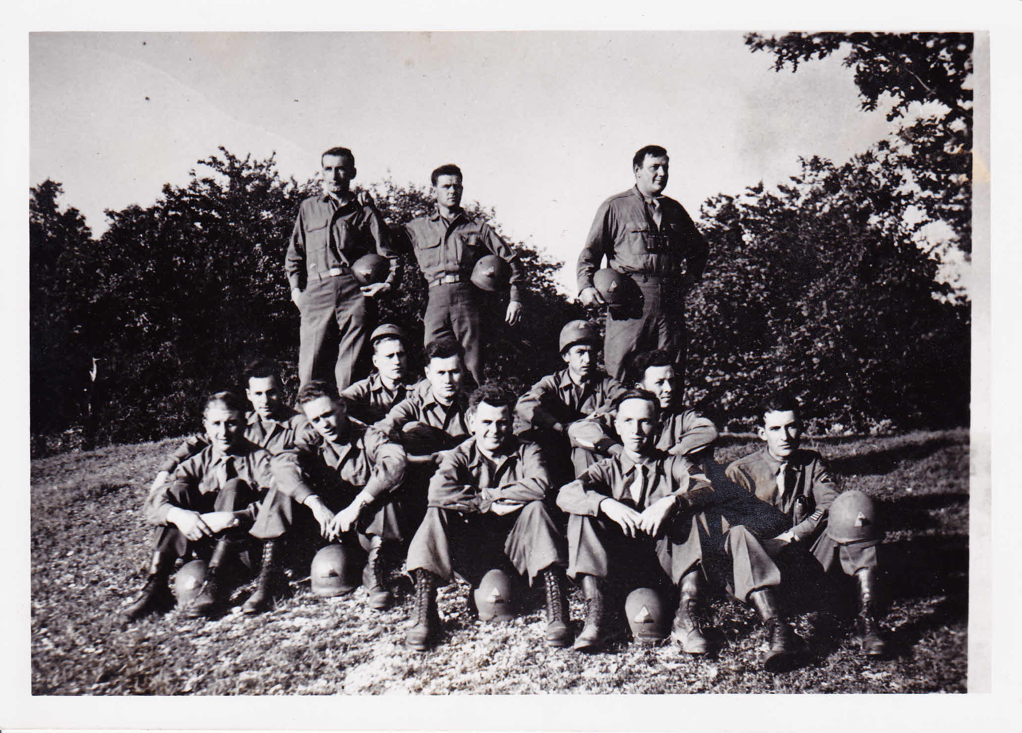 The men of the Company E, 17th Armored Engineer Battalion after the Potsdam conference. Courstesy of Dave Ketchpaw.