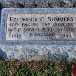 Summers PFC Frederick C Headstone