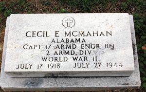 Captain Cecil E McMahan