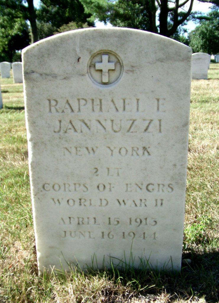 Headstone 2nd LT Raphael E Jannuzzi