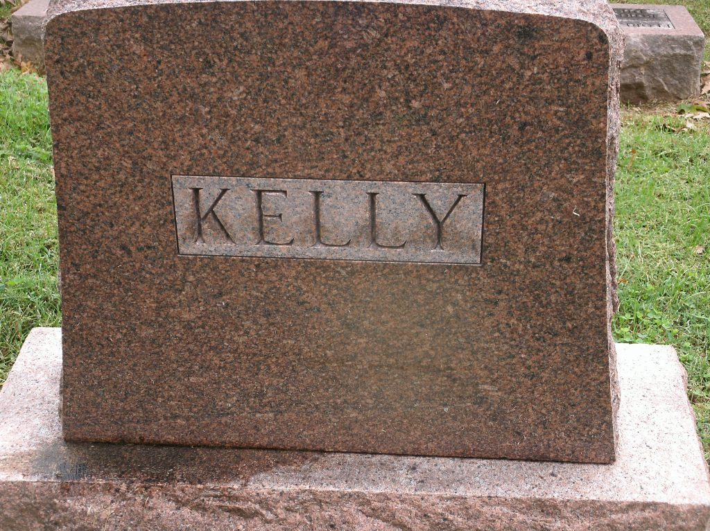 Gravestone Thomas W Kelly Jr New Lorimier Cemetery