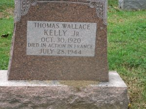 Gravestone Thomas W Kelly Jr front