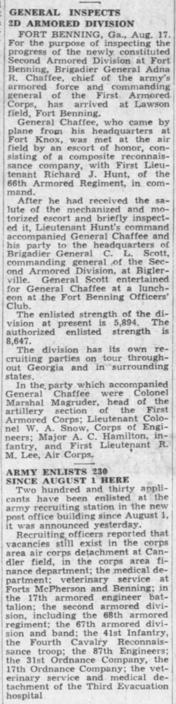The Atlanta Constitution Atlanta, Fulton, Georgia, United States of America 18 Aug 1940, Sun
