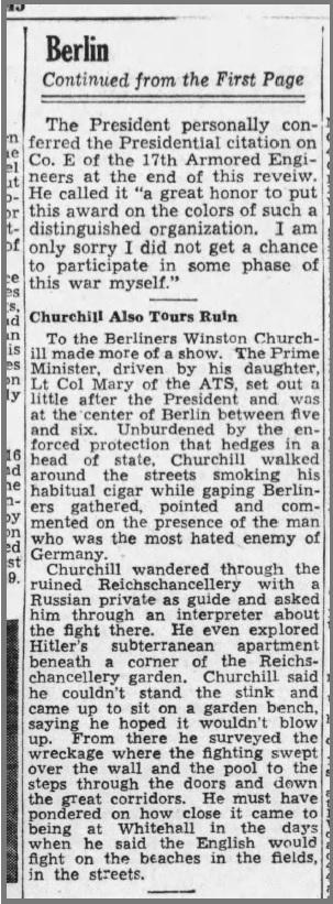 The Boston Globe, Boston, Suffolk, Massachusetts, United States of America 17 Jul 1945, Tue
