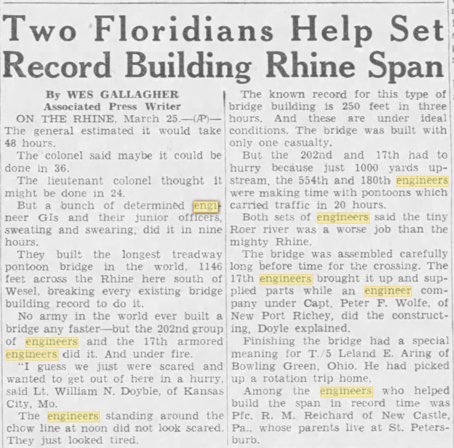 The Tampa Tribune Tampa, Florida, United States of America 26 Mar 1945,