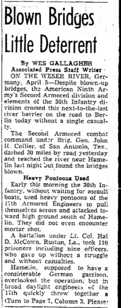 Lubbock Morning Avalanche (Lubbock, Lubbock, Texas 6 Apr 1945