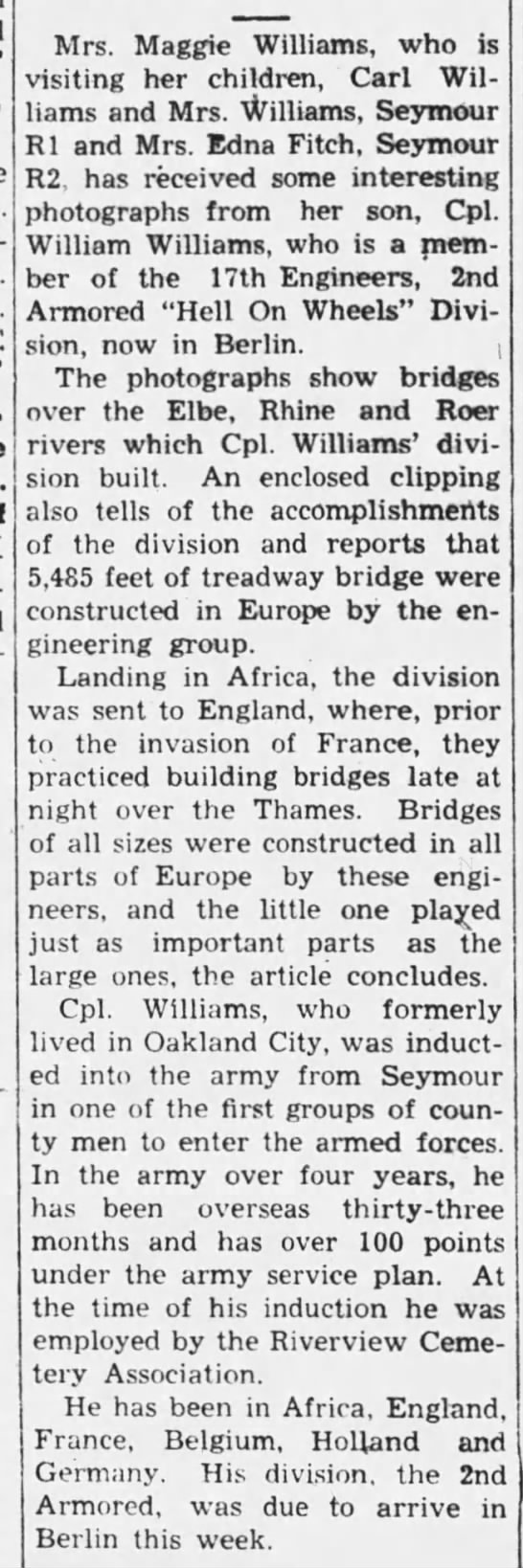 The Tribune (Seymour, Jackson, Indiana, United States of America) · 7 Jul 1945