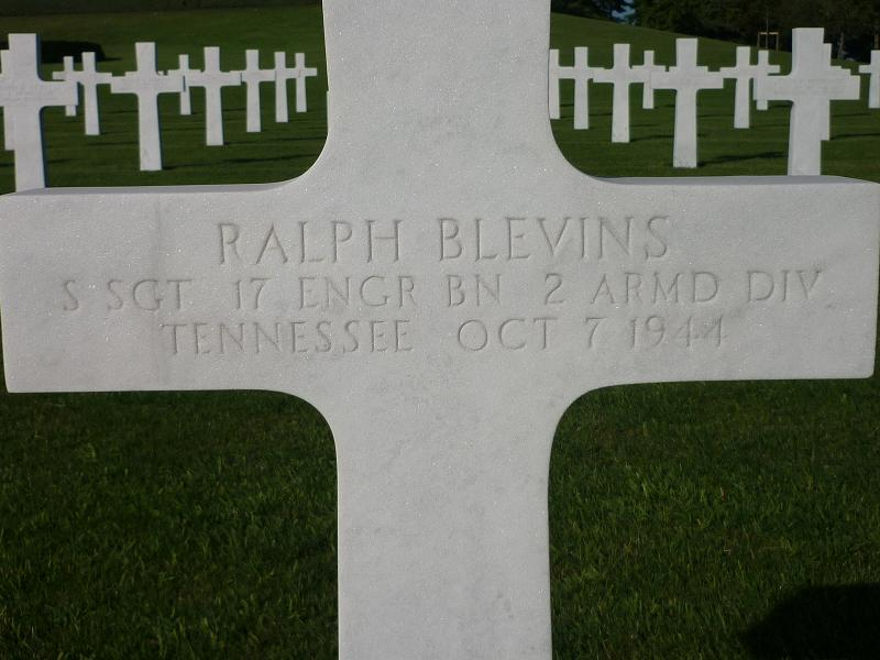 Gravestone Ralph Blevins